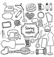 sewing accessories Doodle vector image