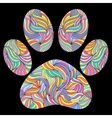 paw print on black background vector image