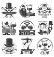 Gentlemen Club Label Set vector image