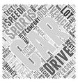 SC sports car buying tips Word Cloud Concept vector image