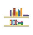 Shelves with Books and Folders vector image