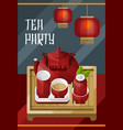 colorful traditional tea ceremony template vector image