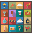 set of rest icons in flat design style vector image vector image