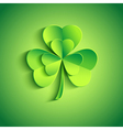 Holiday Patricks day card green with leaf clover vector image