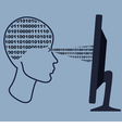 Abstract human head with the computer vector image