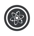 Round black atom sign vector image