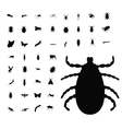insect silhouette collection vector image