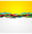 Abstract corporate gradient waves background vector image