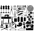 tailoring equipment vector image vector image