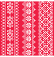 Ukrainian Belarusian white embroidery seamless pa vector image