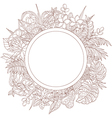 tropic outline frame round vector image