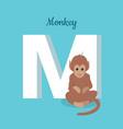 animals alphabet letter - m vector image