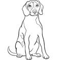 beagle dog cartoon for coloring book vector image