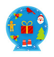 christmas decorative ball papercut vector image
