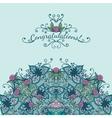 Decorative element congratulations card vector image