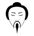 east asian traditional man icon image vector image