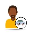 man icon car design vector image