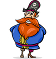 pirate captain cartoon vector image