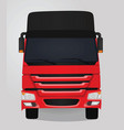 red truck front view vector image