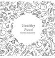 vegetable background healthy food frame decor vector image