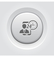 Personal Assistance Icon Grey Button Design vector image