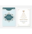 Christmas template with laser cutting vector image