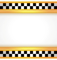 Taxi background square vector image vector image