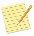 Line paper with pencil vector image