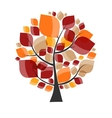 Beautiful Autumn Tree on a White Background vector image vector image