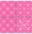set of patterns with hearts vector image vector image