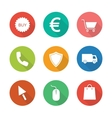 Web store flat design icons set vector image