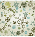 seemless snowflakes background vector image