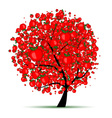 Energy apple tree for your design vector image vector image