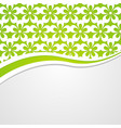 background with a green floral header vector image