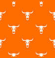 buffalo skull pattern seamless vector image
