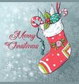christmas socks with gifts vector image