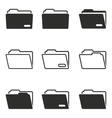Folder icon set vector image