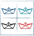 Hand drawn paper boats vector image