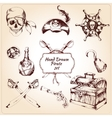 Pirates decorative icons set vector image