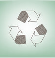 recycle logo concept brown flax icon on vector image