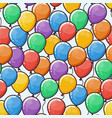 seamless pattern with multicolored ballons vector image