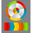 Concept of colorful circular banners with arrows vector image vector image