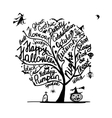 Halloween tree for your design vector image vector image
