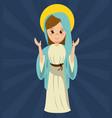 Virgin mary pray statue image vector image