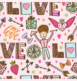 valentine day seamless romantic pattern vector image