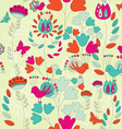 A Seamless Retro Style Pattern with Birds and vector image vector image
