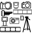 camera design elements vector image