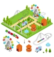 Amusement Park Isometric View vector image