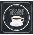 banner with a cup of coffee vector image