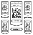 Big Sale Best offer badge line sticker label vector image